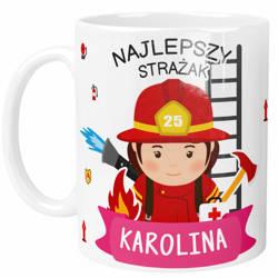 Personalizowany Kubek dla Strażaka Kobiety, z Twoim Tektestem, Imieniem